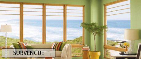 Pridobitev subvencije za okna